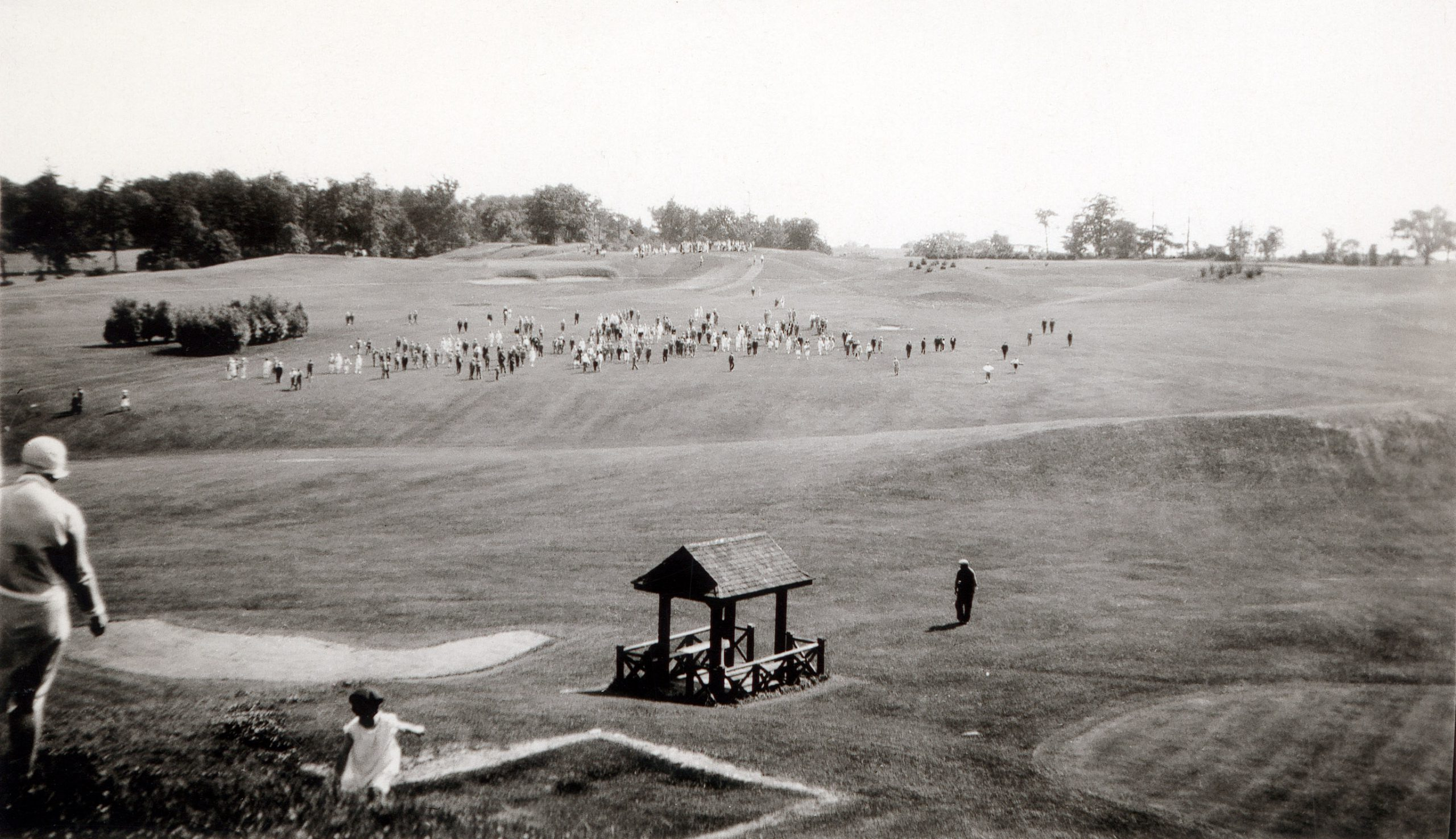The 9th hole at the 1919 Canadian Open at Hamilton Golf and Country Club.