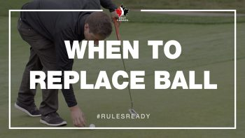 When to replace golf ball