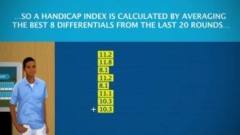 Basis of handicap calculation