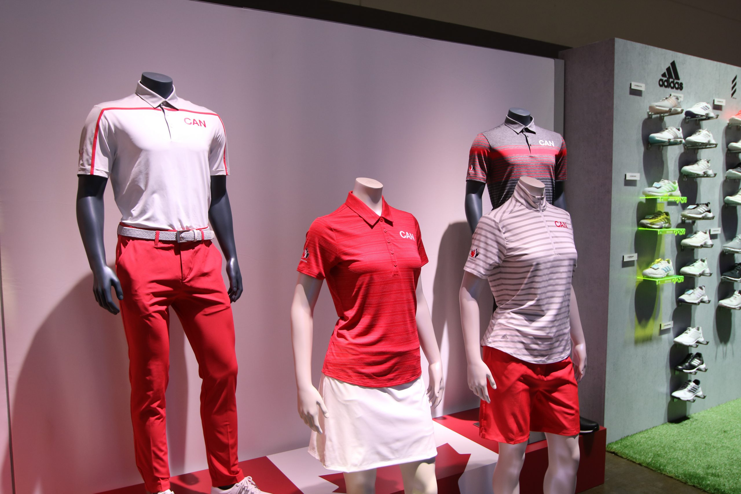 2020 Canadian Olympic Golf Uniforms from adidas