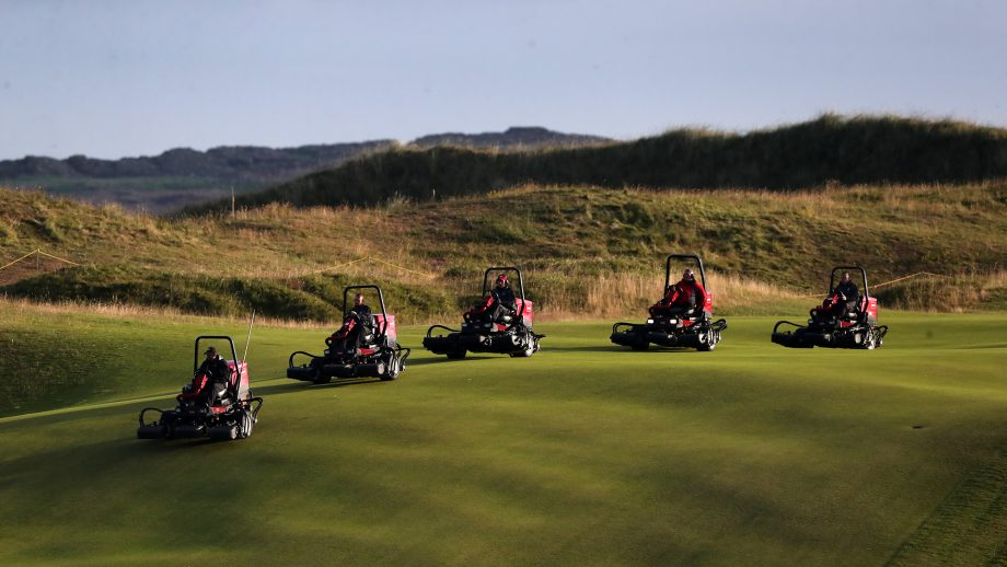 Lawnmowers at Royal Portrush