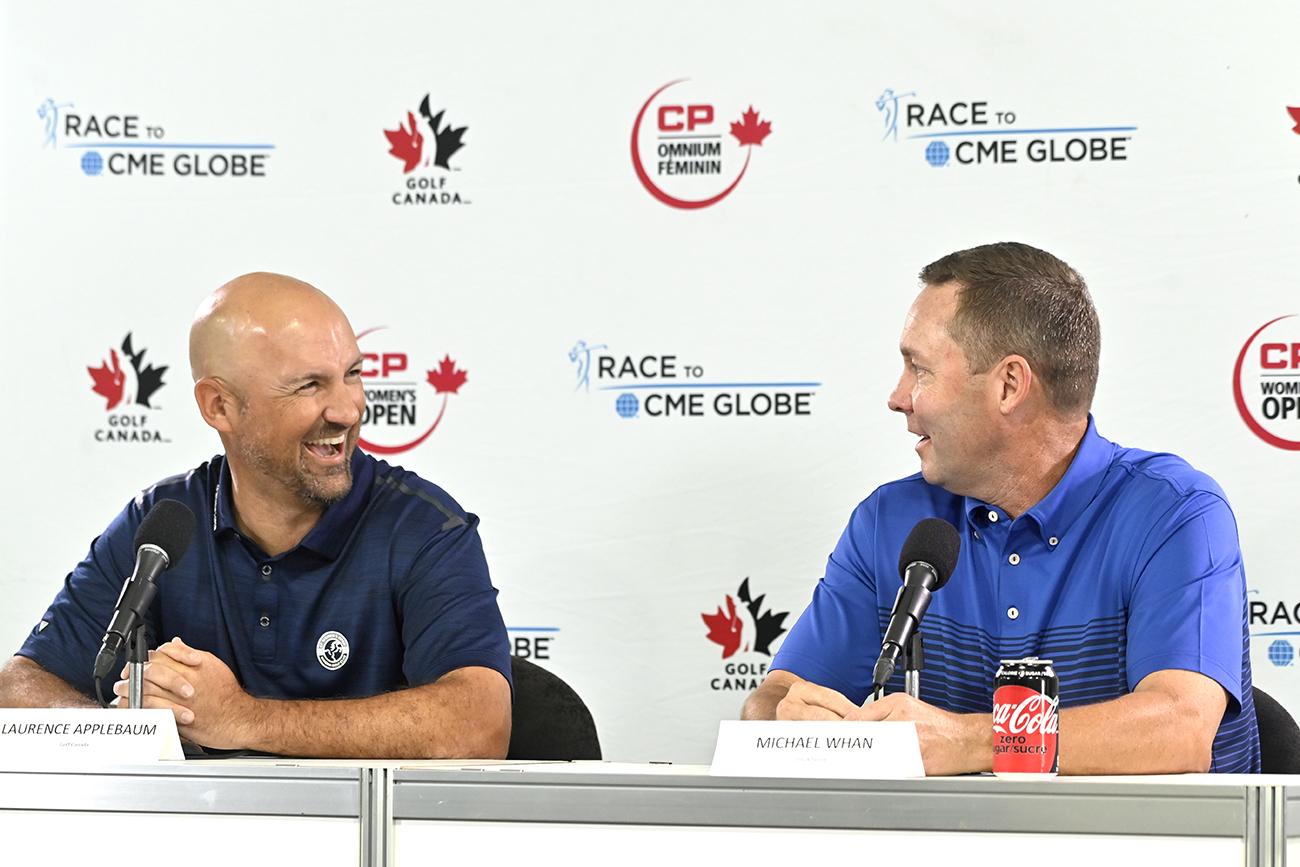 Laurence Applebaum and LPGA Commissioner Mike Whan