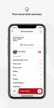 Golf Canada App Features Post Round Scoring Summary