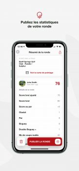 Appli Golf Canada - publiez statistiques