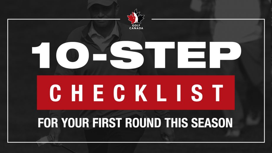 10-step checklist for your first round of golf
